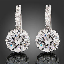 Cubic Zirconia Hoop Stone Costume Earrings