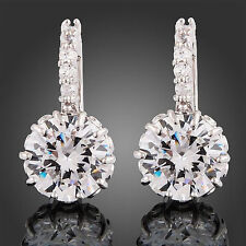 Cubic Zirconia Leverback Costume Earrings