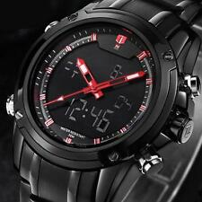 Military Sports Mens Watches Multi-function Luxury Stainless Steel Date Watches
