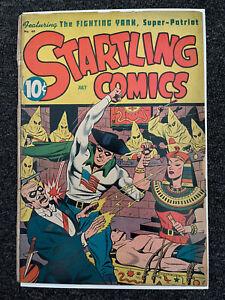1946 STARTLING COMICS #40 golden age fighting yank KKK bondage cover ww2 comic