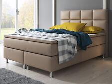 Boxspringbett MIAMI Bett Hotelbett Designerbett 140x200 Kunstleder Muddy