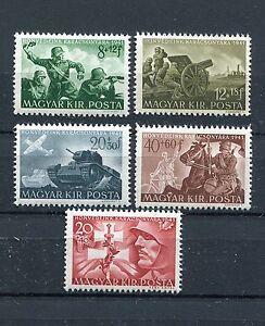 HUNGARY 1941 WW2 GERMAN PUPPET STATE HUNGARIAN ARMY SET B135-B139 PERFECT MNH