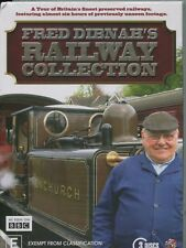FRED DIBNAH'S RAILWAY COLLECTION - A TOUR OF BRITAIN'S FINEST RAILWAYS -  3DVD's