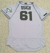 OSICH size 48 #61 2018 SAN FRANCISCO GIANTS GAME JERSEY NOT USED road gray MLB