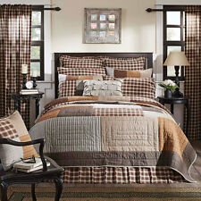 Rory King Quilt by VHC Brands | Rustic Farmhouse Pattern in Chocolate/Natural