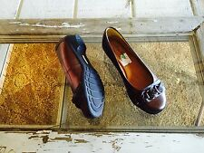 Women's softspots copper leather slip on heels shoes size 6