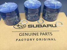 OEM Factory Subaru Engine Oil Filter & Crush Gasket (3 Pack) 15208AA12A Genuine