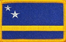 CURACAO Flag Military Patch With VELCRO® Brand Fastener GOLD BORDER #7