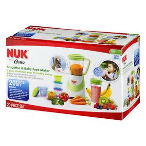 Nuk Baby Food Storage Food Maker 20-Piece Set 6 Baby Cups 6 Lids Baby Essentials