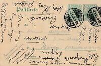 Postkarte Jahr 1905 verschickt von Karlsruhe nach Nancy Frankreich interessant