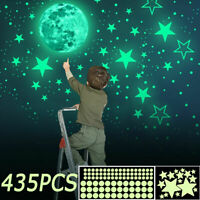 435Pcs Moon Planet Space Kid Wall Stickers Glow In The Dark Luminous Stars Decal