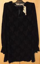 Motel Rocks Gatida Black Baroque Flocked Rose Dress BNWT Size: Small