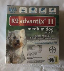 Bayer K9 Advantix ll 4 Pack For medium Dogs 11 - 20 lb EPA approved