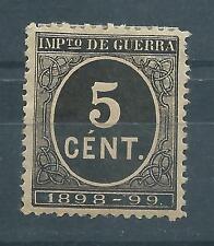 ESPAÑA 1898 EDIFIL 236* NUEVO CON GOMA Y CENTRAJE DE LUJO
