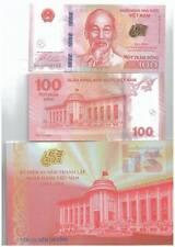 Vietnam 100 Dong COmmemorative Banknote UNC 2016 with Folder 2set R/N