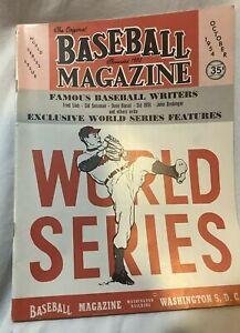 Vintage Baseball Magazine November 1954 Cover: Feller World Series NM Condition