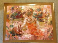 """AUTHENTIC ARTAGRAPH OIL PAINTING""""OLD FRIENDS""""BY HARRISON RUCKER SIGNED #166/1000"""