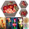 Flower 5D DIY Full Drill Diamond Painting Hexagon Cross Stitch Rhinestone Decor