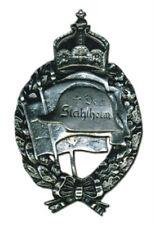 German Prussia Army Troop Unit Patriot Veteran Battle War Medal Badge Stahlhelm