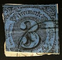 CatalinaStamps: German States Southern District Stamp #43 Used, SCV=$50, #A135