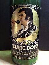 Vintage 1978 Always Elvis Frontenac Wine Bottle with Colonel Poem -Elvis Presley