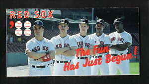 Boston Red Sox--Greenwell--Burks--1988 Pocket Schedule--Miller Genuine Draft