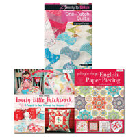 Lovely Little Patchwork, Quilting on the Go and One-Patch Quilts 3 Books Set NEW