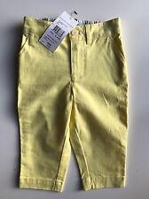 BNWT Auténtico Ralph Lauren Chicas Pantalones Color Amarillo/chino de la edad de 12 M