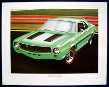 Prospekt brochure Poster 1969 AMC Javelin SST   Chrysler Art Print (USA)