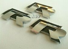 3 X VW R BADGES BLACK FOR VOLKSWAGEN GOLF GTD GTI SCIROCCO TIGUAN GT R-LINE TSI