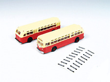 N Scale-Classic Metal Work-52306-GMC TDH 3610 Transit Bus-Transit Red & Cream