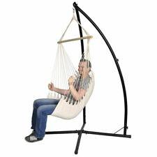 vidaXL Hangstoel met Standaard Crème Hangstoelen Hangmatten Hangmat Tuin Stoel