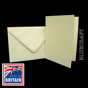 50 x A7 C7 mini Ivory Card Blanks & Envelopes - 81 x 114mm - Cards & Crafts