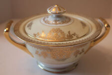 NORITAKE   GOLDLEA    7283   SUGAR BOWL WITH LID   DISCONTINUED  CIRCA 1930