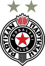 "Partizan FC Serbia Soccer Football Bumper Sticker Decal 4"" x 5"""