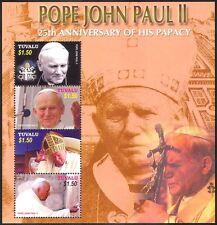 Tuvalu 2004 Pope John Paul II/Religion/People/Church/Papal 4v m/s (n40218)