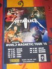METALLICA - 2010 WORLD MAGNETIC AUSTRALIAN TOUR - PROMO TOUR POSTER
