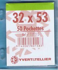 1 Blister 50 Pochettes Transparentes simple soudure 32x53