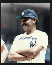 HECTOR LOPEZ Signed 8x10 Photo NEW YORK YANKEES 1st Black AAA Baseball Manager