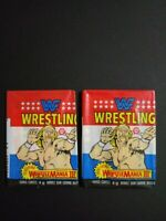 1987 OPC WWF Wrestle Mania 3 Wax Pack 2 Pack Lot