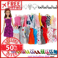 40 for Barbie Dolls Outfits Clothes Gown Accessories Shoes dresses Costumes Girl