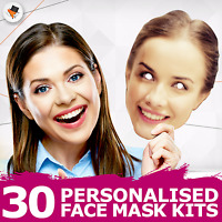 30 Personalised Photo Face Masks Party Accessory Hen Parties Stag Birthdays