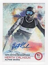 2014 Topps USA Olympic Team Authentic Autograph #13 Heath Calhoun Alpine Skiing