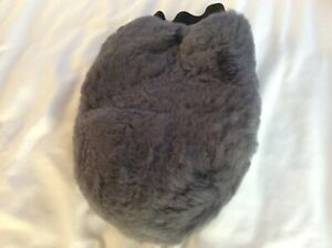 Lambswool Grooming Mitt Grey Unused