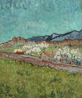 View Of The Alpilles Vincent van Gogh Landscape Wall Art Canvas Print Small 8x10