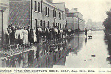 Disasterous Floods, Dargle Road & Cripple's Home, Bray August 26th 1905 Rare