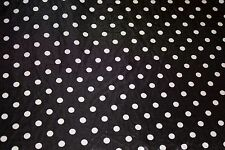 Black White Polka Dot Charmeuse Print #13 Apparel Dress Sewing Fabric BTY
