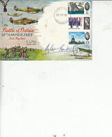 DOUGLAS BADER HAND SIGNED FDC 25TH ANNIVERSARY OF THE BATTLE OF BRITAIN 1965