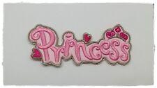 Princess Crown Hearts Rhinestone Patch Sew Iron on Embroidered Pink Cartoon Diy