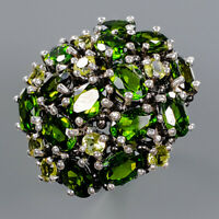 Chrome Diopside Ring Silver 925 Sterling Fashion Art Jewelry Size 8.25 /R140213